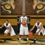 Missouri basketball players Jabari Brown (from left), Earnest Ross and Jordan Clarkson, 2013-2014 season.