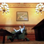 Governor Sam Brownback in his office at the Kansas statehouse in Topeka.