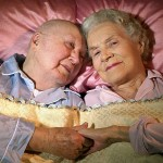 "Jim and Frances Denio first met in 1941 but didn't marry until she was 70 and he was 84.  ""It feels good to have someone lying in bed next to me each night,"" Jim says, ""someone I can reach over and touch."""