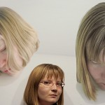 "Artist Alison Miller, with her work ""Head Shots No. 8,"" focuses on the body's possibilities by isolating parts of it."