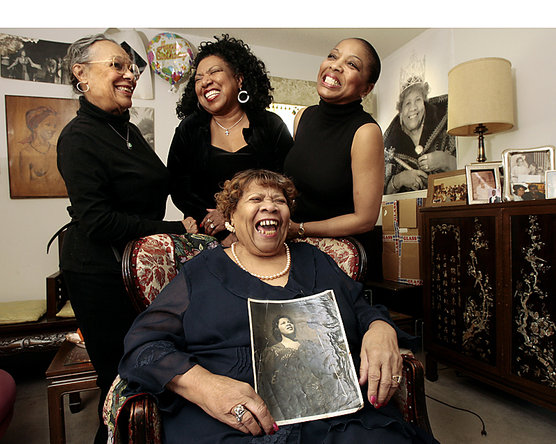 Myra Taylor (center), Kansas City jazz icon and one of the Wild Women of Kansas City, just before her 92nd birthday. Taylor died in 2011 at 94.
